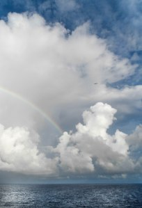 water- 3 kinds- clouds, rainbow, ocean