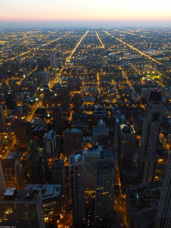 Chicago skyline in the evening