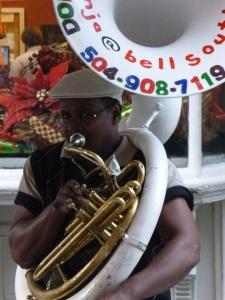 Street musician, Bourbon Street New Orleans