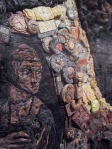 detail of skull by Grupo Mondongo