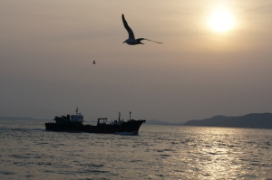 Sunset at Wolmi Island, Incheon