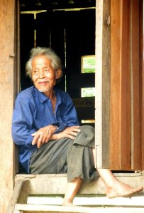 Thai man in doorway