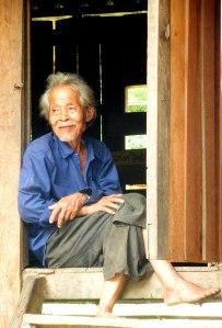 Thai man in doorway