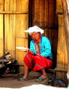 Thai woman in doorway