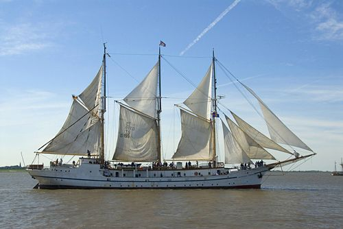 Ariadne, one of the ships I got to sail on for high school