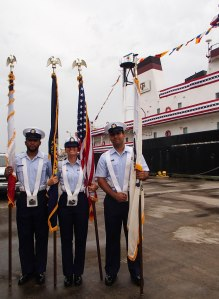 Galveston Coast Guard keepers of the flags